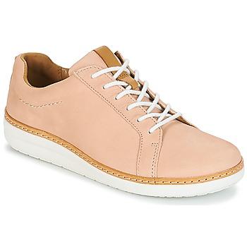 Topánky Ženy Derbie Clarks Amberlee Rosa Svetlá telová / Modrá