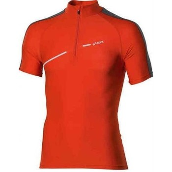 Oblečenie Ženy Tričká s krátkym rukávom Asics 1/2 ZIP TOP FW12 421016-0540 orange