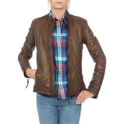 Oblečenie Ženy Saká a blejzre Wrangler skórzana  WR4030ZC81 brown