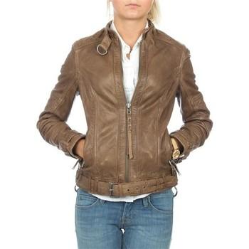 Oblečenie Ženy Saká a blejzre Wrangler skórzana  Montana WR4044ZCBR brown