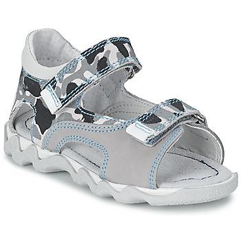 Topánky Chlapci Sandále Citrouille et Compagnie MISQUINE Biela / Vojenská zelená