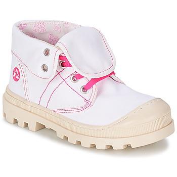 Topánky Dievčatá Polokozačky Citrouille et Compagnie BASTINI Biela