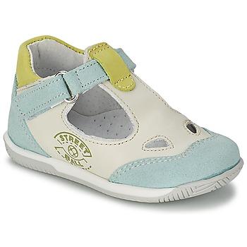 Topánky Chlapci Sandále Citrouille et Compagnie XOULOU Biela / Modrá / Zelená