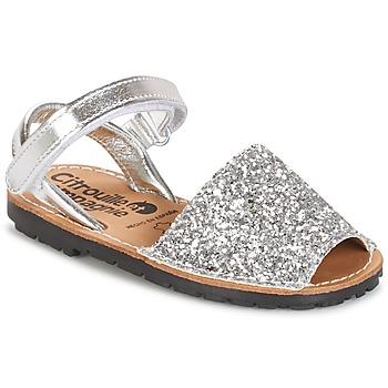 Topánky Dievčatá Sandále Citrouille et Compagnie SQUOUBEL Strieborná