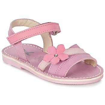 Topánky Dievčatá Sandále Citrouille et Compagnie VIZIEL Fialová  / Ružová