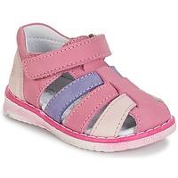 Topánky Dievčatá Sandále Citrouille et Compagnie CHIZETTE Fialová / Ružová / Fuksiová