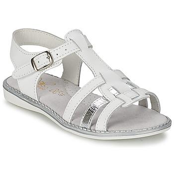 Topánky Dievčatá Sandále Citrouille et Compagnie ROLUI Biela