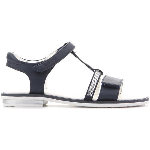 Topánky Dievčatá Sandále Geox Giglio J82E2B 000BC C4002 navy
