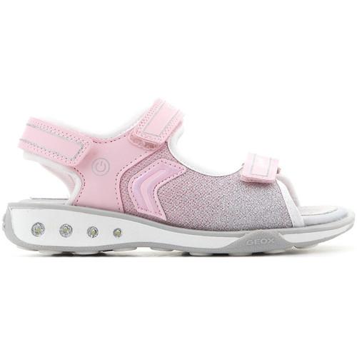 Topánky Dievčatá Sandále Geox Jocker J8292C 0AS54 C0550 pink