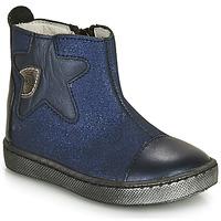 Topánky Dievčatá Polokozačky GBB LIAT Námornícka modrá