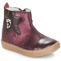 Topánky Dievčatá Polokozačky GBB LIAT Bordová