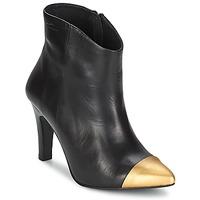 Topánky Ženy Čižmičky Pastelle ARIEL čierno-zlatá