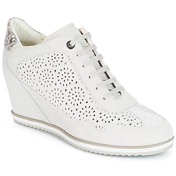 Topánky Ženy Členkové tenisky Geox D ILLUSION Biela