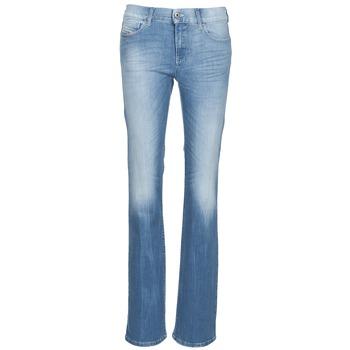 Oblečenie Ženy Džínsy Bootcut Diesel BOOTZE Modrá