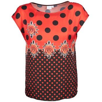 Oblečenie Ženy Tričká s krátkym rukávom Alba Moda BETTINA Červená / Čierna