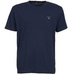 Oblečenie Muži Tričká s krátkym rukávom Gant SOLID Námornícka modrá
