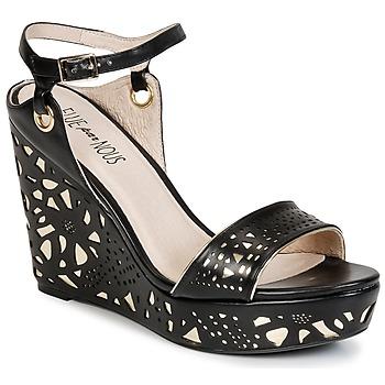 Topánky Ženy Sandále Elue par nous RIAZONE Čierna