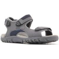 Topánky Muži Sandále Geox Strada WF Sivá