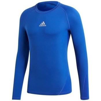 Oblečenie Muži Tričká s dlhým rukávom adidas Originals Alphaskin LS Modrá