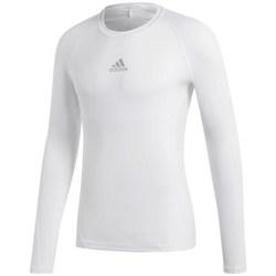 Oblečenie Muži Tričká s dlhým rukávom adidas Originals Alphaskin Sport LS Biela