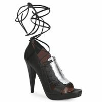 Topánky Ženy Sandále Sigerson Morrison STRUZZO čierna / Strieborná