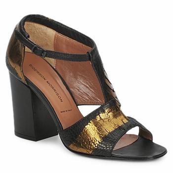 Topánky Ženy Sandále Sigerson Morrison STRUZZO čierna / Bronzová