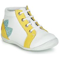 Topánky Dievčatá Členkové tenisky GBB FRANCKIE Biela / Žltá