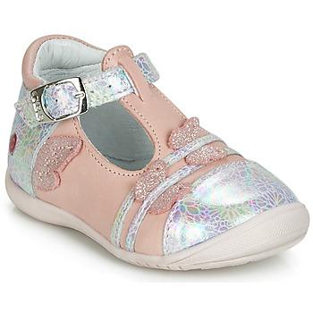 Topánky Dievčatá Balerínky a babies GBB MERTONE Ružová / Strieborná