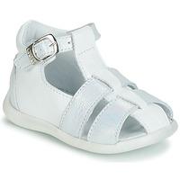 Topánky Dievčatá Sandále GBB GASTA Biela / Strieborná