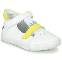 Topánky Dievčatá Balerínky a babies GBB ARAMA Biela / Žltá