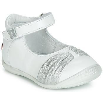 Topánky Dievčatá Balerínky a babies GBB MALLA Biela / Strieborná