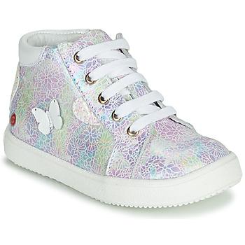 Topánky Dievčatá Členkové tenisky GBB MEFITA Strieborná / Ružová