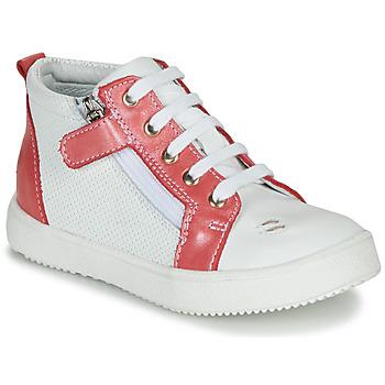 Topánky Dievčatá Členkové tenisky GBB MIMOSA Biela / koralová