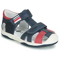 Topánky Chlapci Sandále GBB BERTO Námornícka modrá / Červená