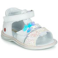 Topánky Dievčatá Sandále GBB MESTI Biela / Strieborná