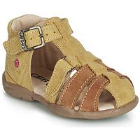 Topánky Chlapci Sandále GBB PRIGENT Žltá horčicová