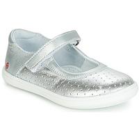 Topánky Dievčatá Balerínky a babies GBB PLACIDA Strieborná