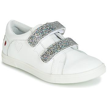 Topánky Dievčatá Nízke tenisky GBB BALOTA Biela / Strieborná