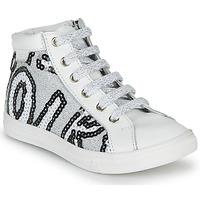 Topánky Dievčatá Členkové tenisky GBB MARTA Biela / Strieborná