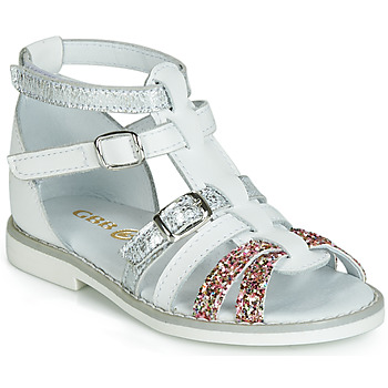 Topánky Dievčatá Sandále GBB MONELA Biela