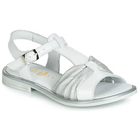 Topánky Dievčatá Sandále GBB MESSENA Biela / Strieborná