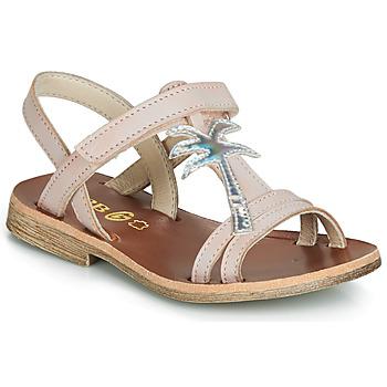 Topánky Dievčatá Sandále GBB SAPELA Ružová / Strieborná