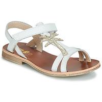 Topánky Dievčatá Sandále GBB SAPELA Biela / Zlatá