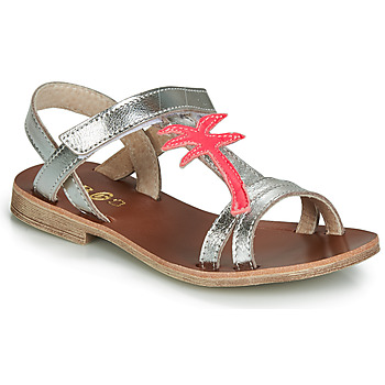 Topánky Dievčatá Sandále GBB SAPELA Strieborná / Ružová