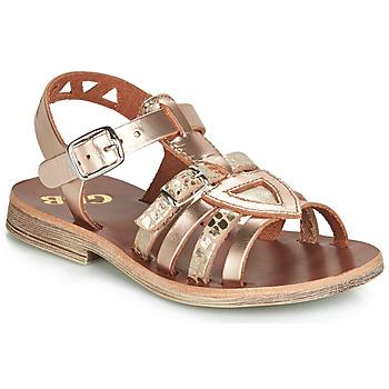 Topánky Dievčatá Sandále GBB FANNI Ružová / Zlatá / Zlatá
