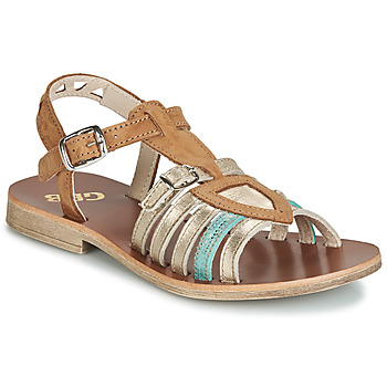 Topánky Dievčatá Sandále GBB FANNI Hnedá / Zlatá
