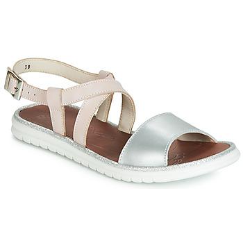 Topánky Dievčatá Sandále GBB ADRIANA Ružová / Strieborná