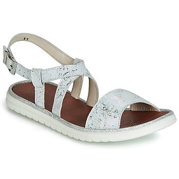 Topánky Dievčatá Sandále GBB ADRIANA Biela / Strieborná