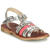 Topánky Dievčatá Sandále GBB BANGKOK Strieborná / Ružová