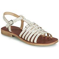 Topánky Dievčatá Sandále GBB BANGKOK Béžová / Biela